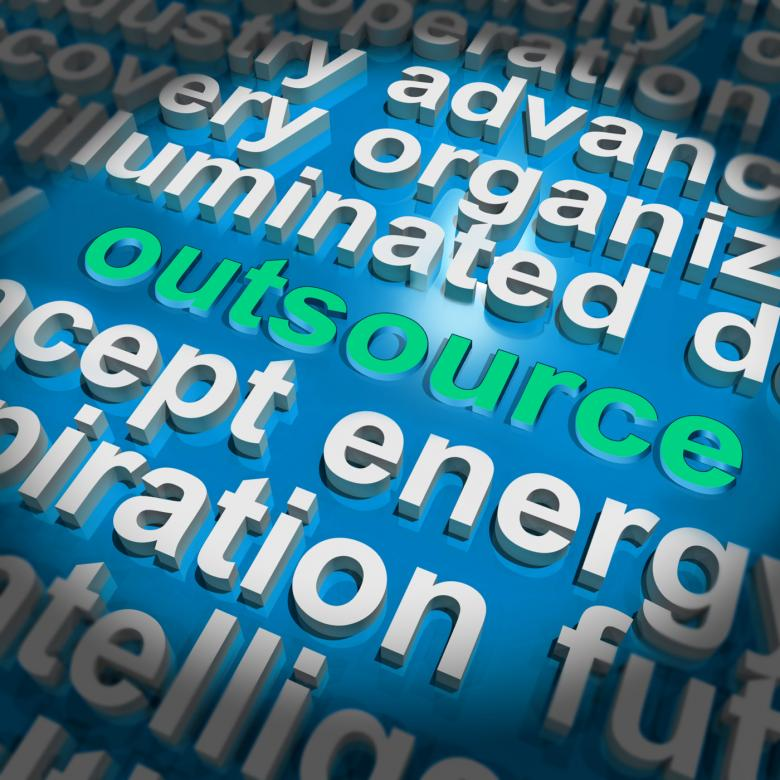 Free Stock Photo of Outsource Word Cloud Shows Sub Contract And Freelance Created by Stuart Miles