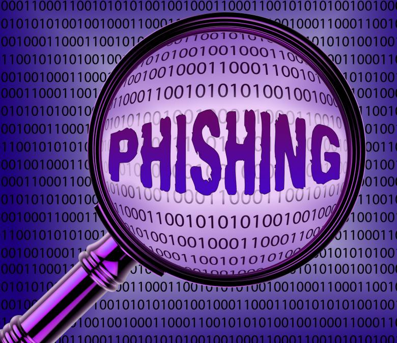 Free Stock Photo of Computer Phishing Means Magnifier Magnifying And Internet Created by Stuart Miles