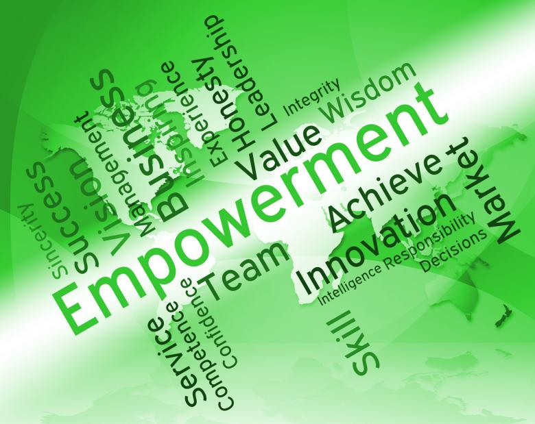 Free Stock Photo of Empowerment Words Shows Spur On And Empowering Created by Stuart Miles