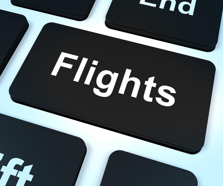 Flights Computer Key For Overseas Vacation Or Holiday Booking - Free Travel Illustrations