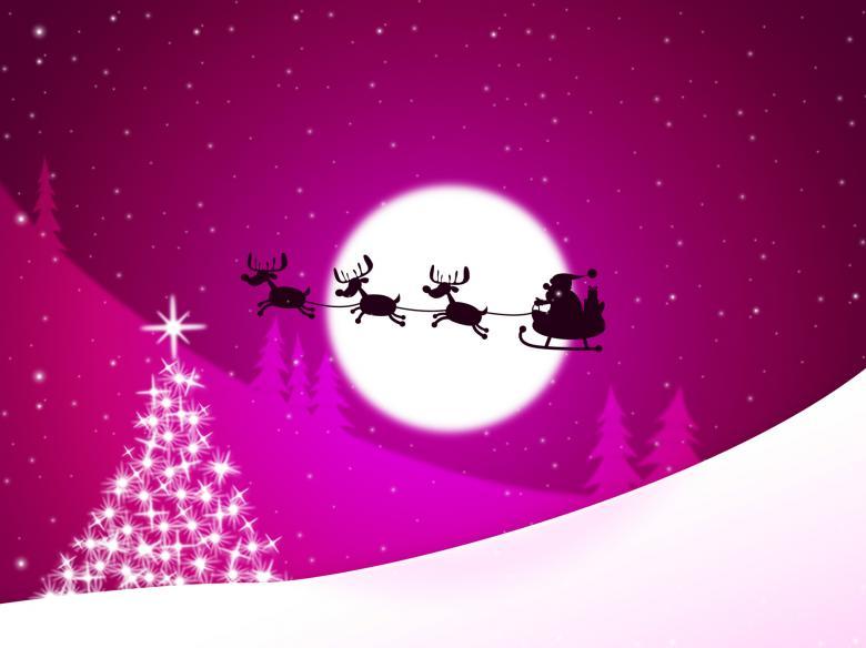 Xmas Tree Represents Merry Christmas And Congratulation - Free Christmas Illustrations