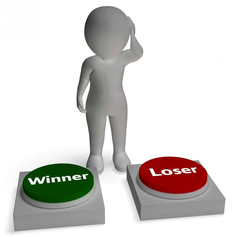 Free Stock Photo of Winner Loser Buttons Shows Winning Or Losing Created by Stuart Miles