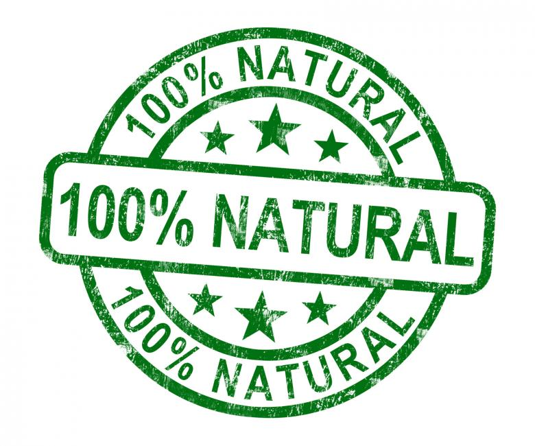 Free Stock Photo of 100 Natural Stamp Shows Pure Genuine Product Created by Stuart Miles