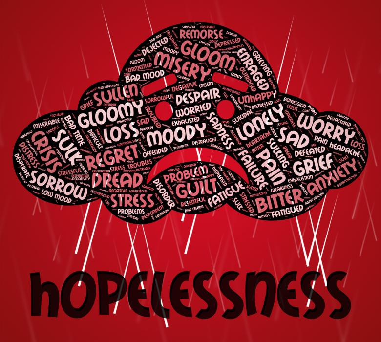 Free Stock Photo of Hopelessness Word Shows In Despair And Defeatist Created by Stuart Miles