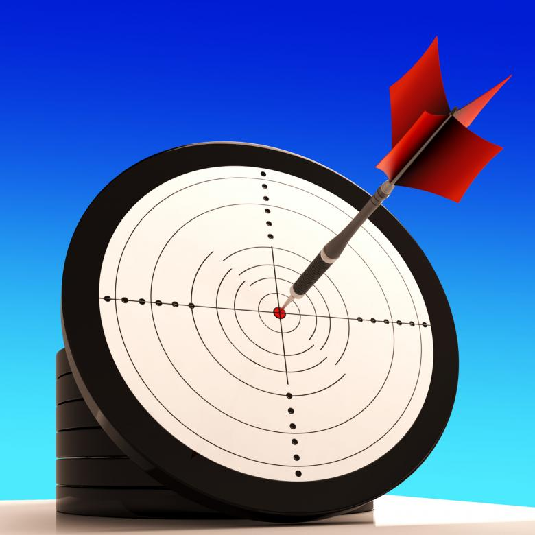 Free Stock Photo of Target Shows Winning Strategy And Perfect Skill Created by Stuart Miles