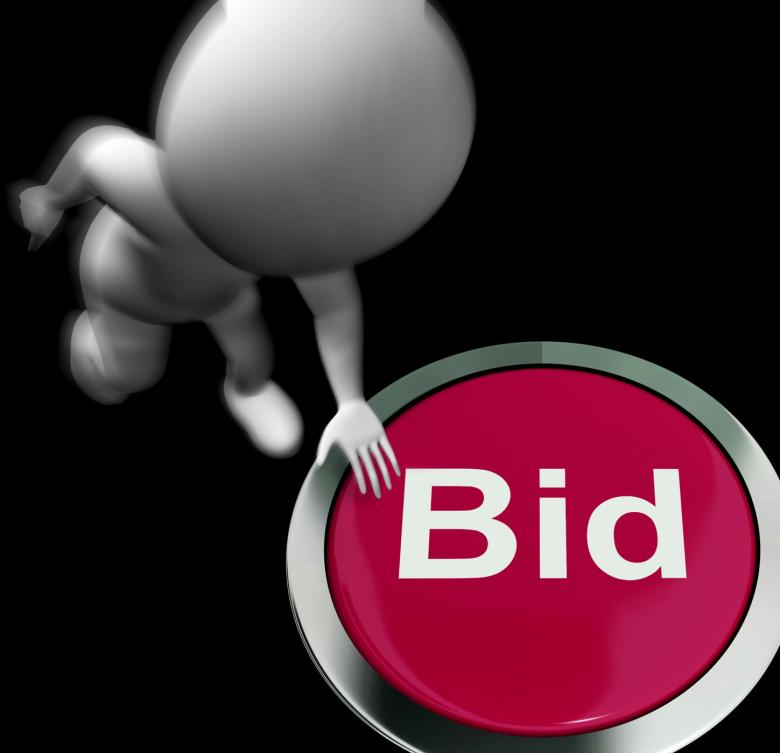 Free stock image of Bid Pressed Shows Auction Buying And Selling created by Stuart Miles