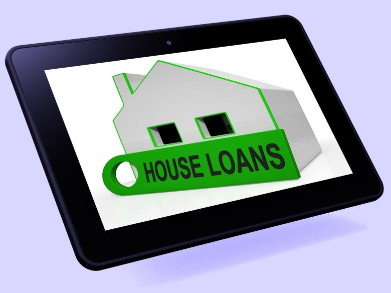 Free Stock Photo of House Loans Home Tablet Means Mortgage Interest And Repay Created by Stuart Miles