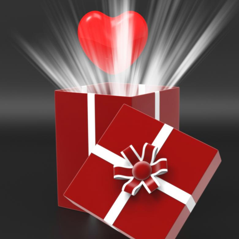 Free Stock Photo of Giftbox Heart Shows Valentines Day And Affection Created by Stuart Miles