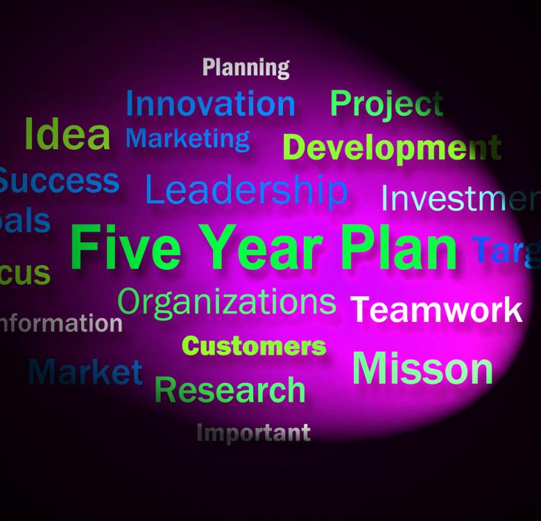Free Stock Photo of Five Year Plan Words Means Strategy For Next 5 Years Created by Stuart Miles