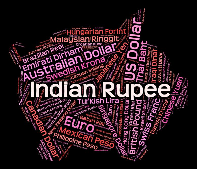 Free Stock Photo Of Indian Ru Represents Currency Exchange And Broker Created By Stuart Miles