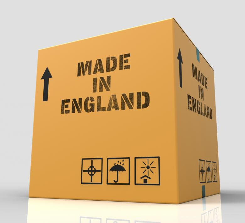 Free Stock Photo of Made In England Means British Product 3d Rendering Created by Stuart Miles