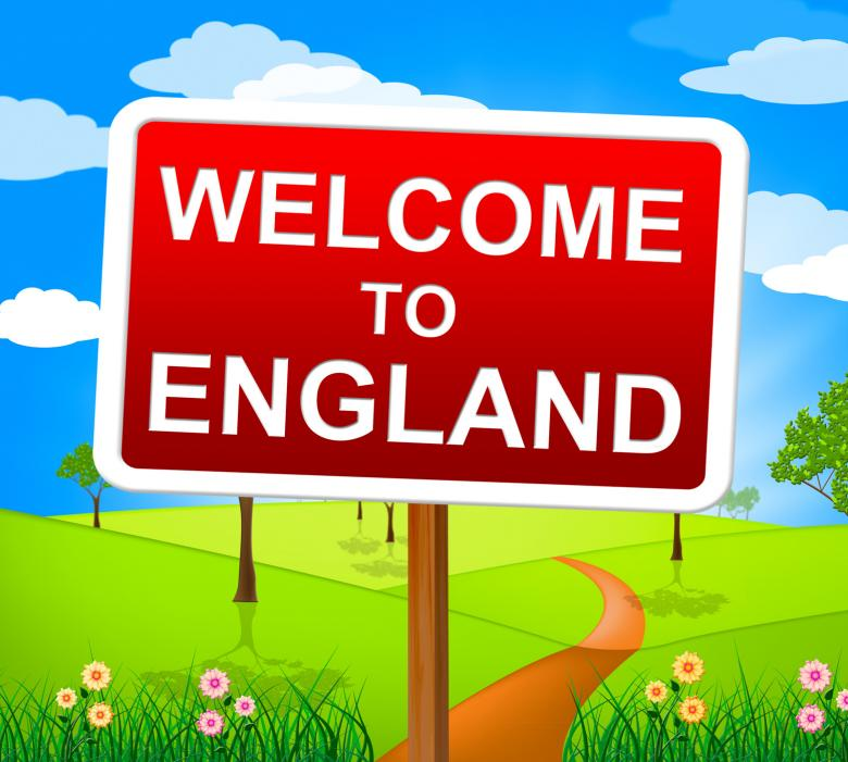 Free Stock Photo of Welcome To England Shows United Kingdom And Greetings Created by Stuart Miles