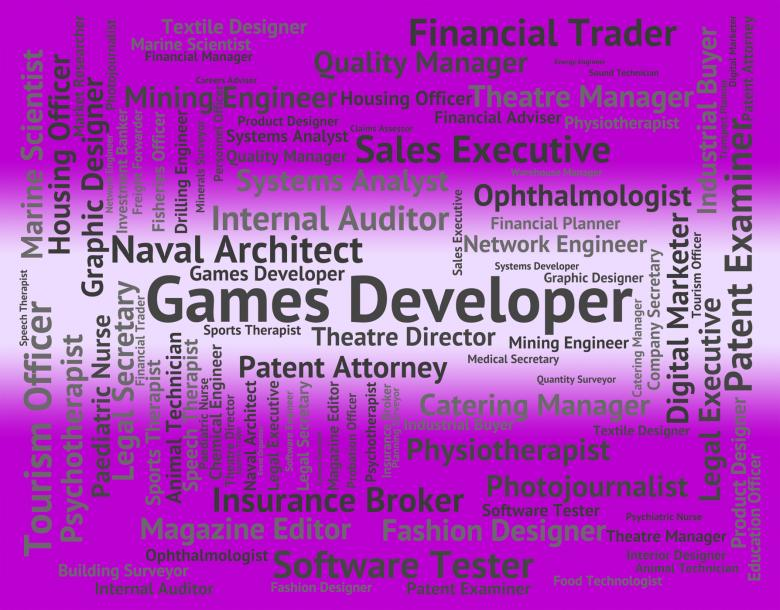 Free Stock Photo of Games Developer Shows Play Time And Designer Created by Stuart Miles