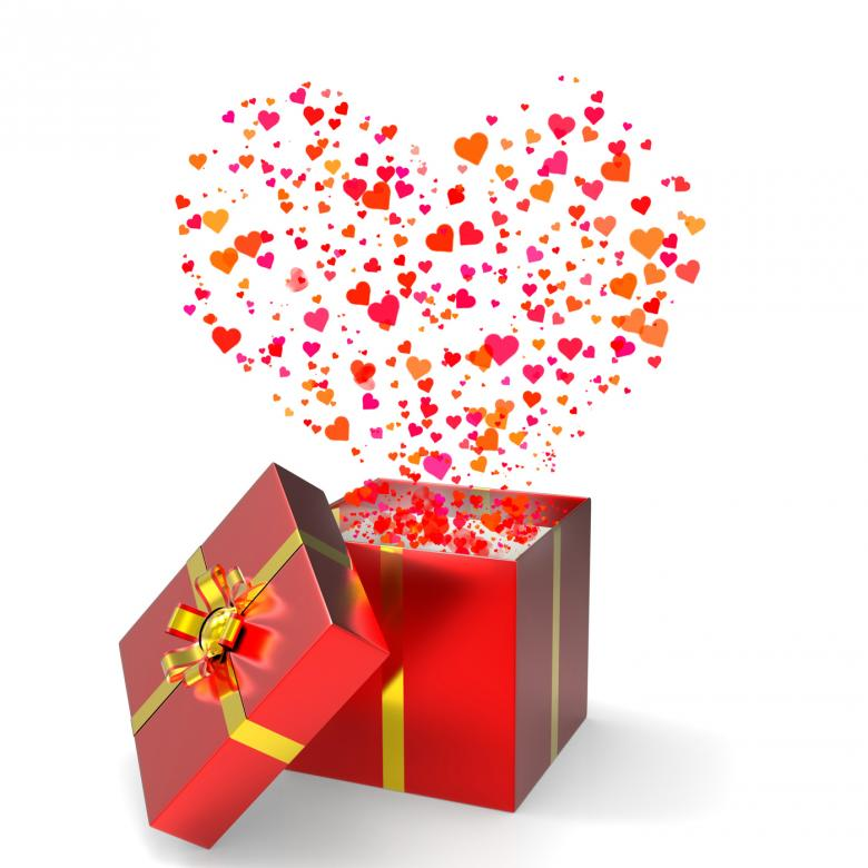 Heart Gift Represents Valentines Day And Celebrate - Free Love Stock Photos