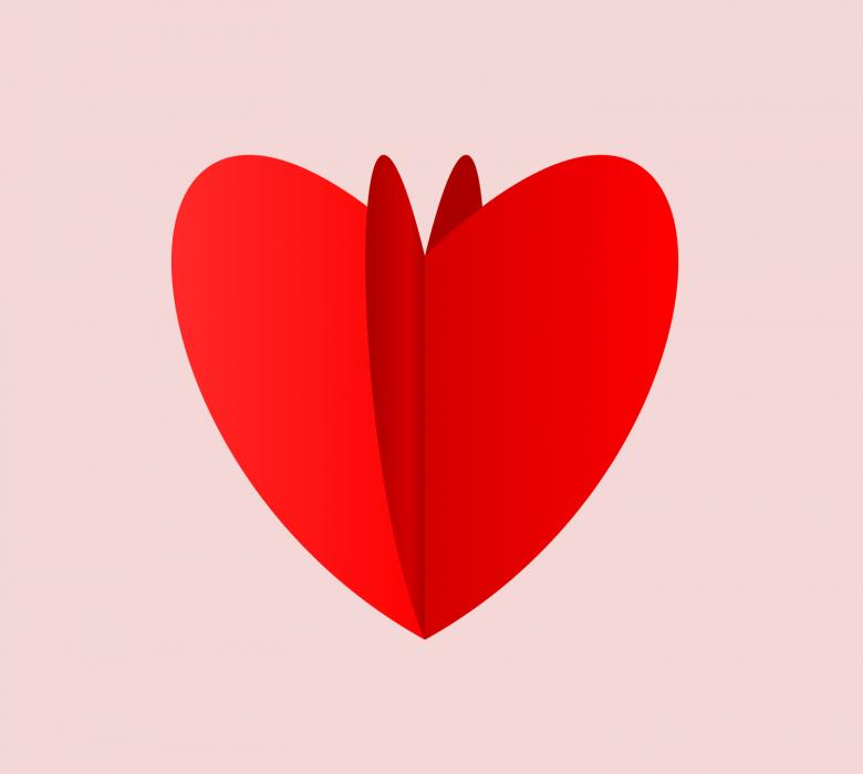 Free Stock Photo of Heart Flip Vector Created by pixloger