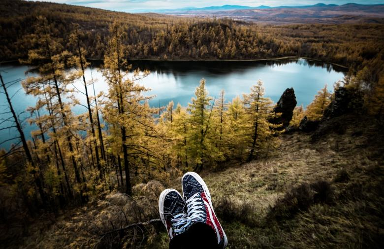 Hiker enjoying the View - Free Forest Stock Photos