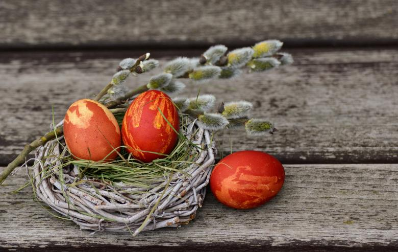 Free Stock Photo of Easter Eggs Created by Pixabay