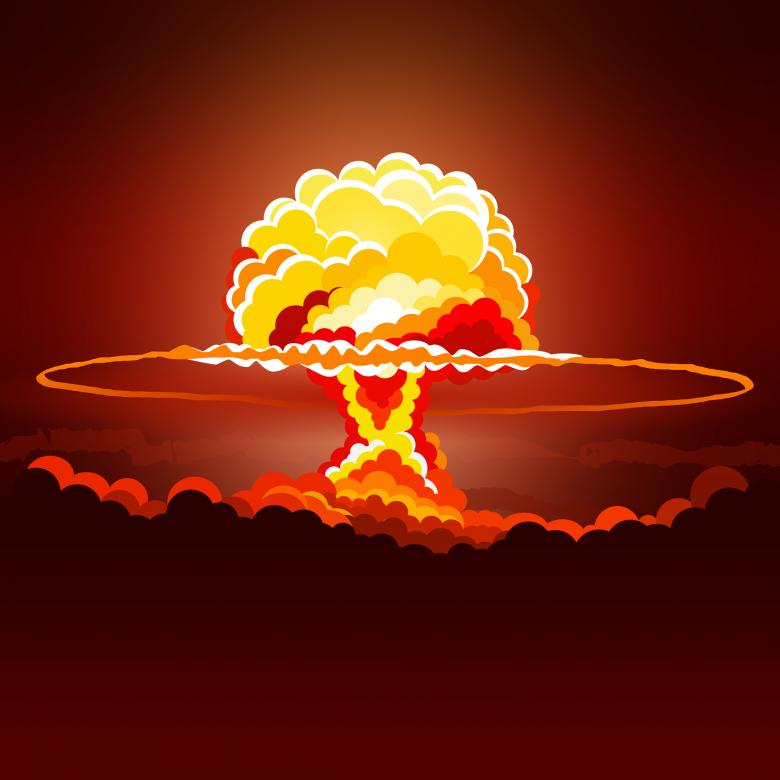 Nuclear Explosion - Illustration - Free Red Stock Photos