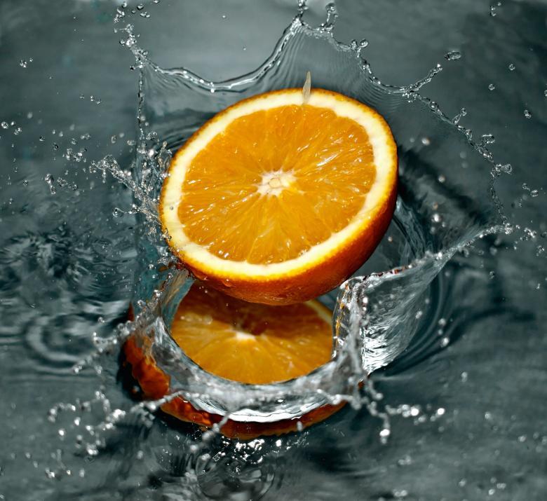 Free Stock Photo of Splashing Orange