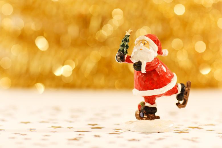Skating Santa Figure - Free Christmas Stock Photos