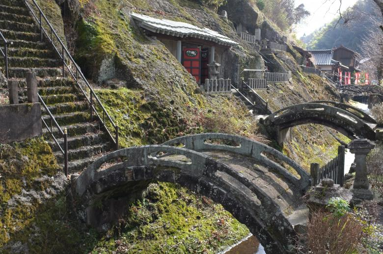 Small stone bridges in Omori town by Iwami silver mine Free Photo