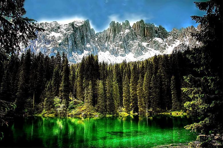 Free Stock Photo of Dolmites Lake