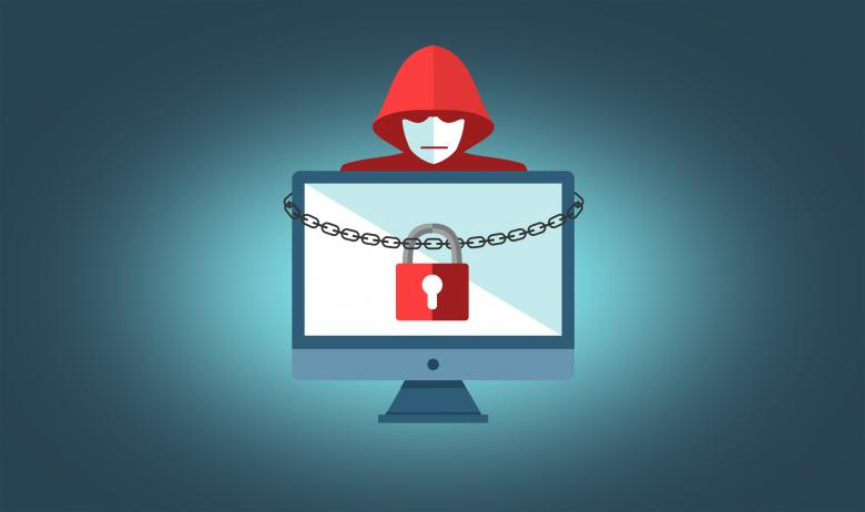 Free Stock Photo of Ransomware Concept with Hooded Hacker - On-Line Security Created by Jack Moreh