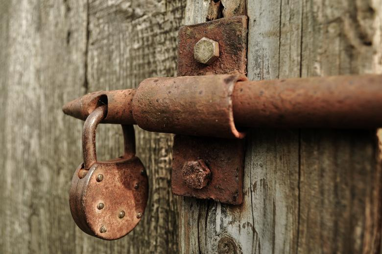 Free Stock Photo of Rusting Lock Created by Pixabay