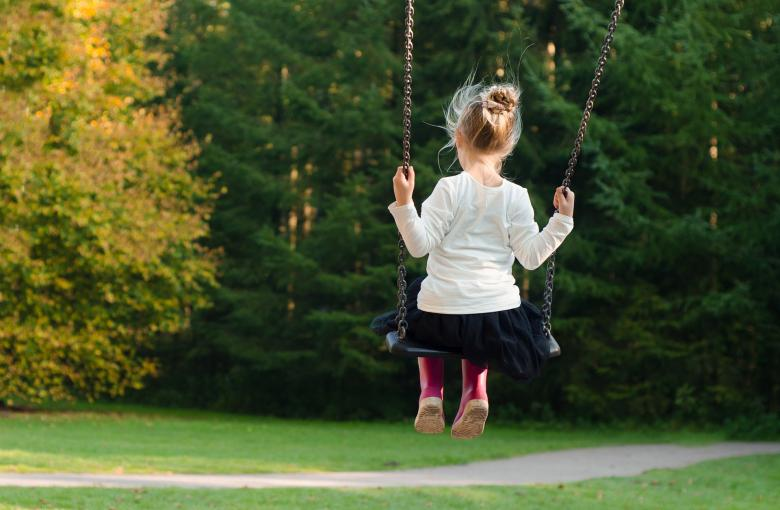 Free Stock Photo of Girl taking a Swing Created by Pixabay