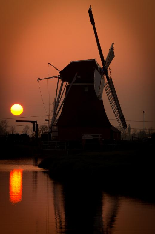Windmill in the Village Free Photo