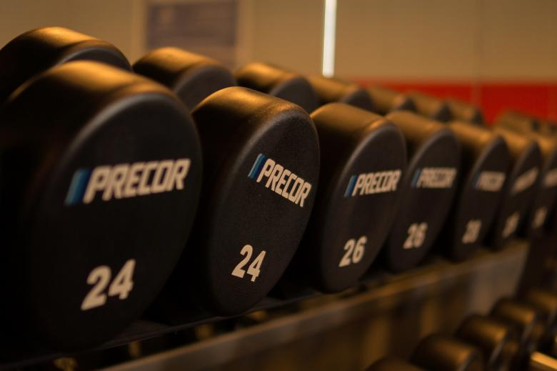 Free Stock Photo of Weights in the Gym Created by Pixabay
