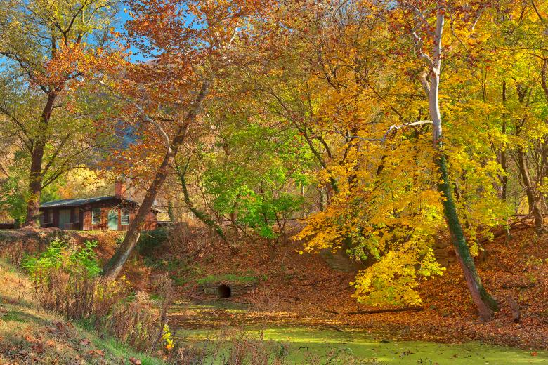 Free Stock Photo of Autumn Harpers Ferry Canal - HDR Created by Nicolas Raymond