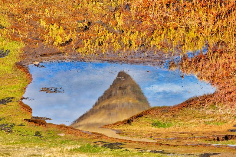 Free Stock Photo of Abstract Kirkjufell Reflection Created by Nicolas Raymond