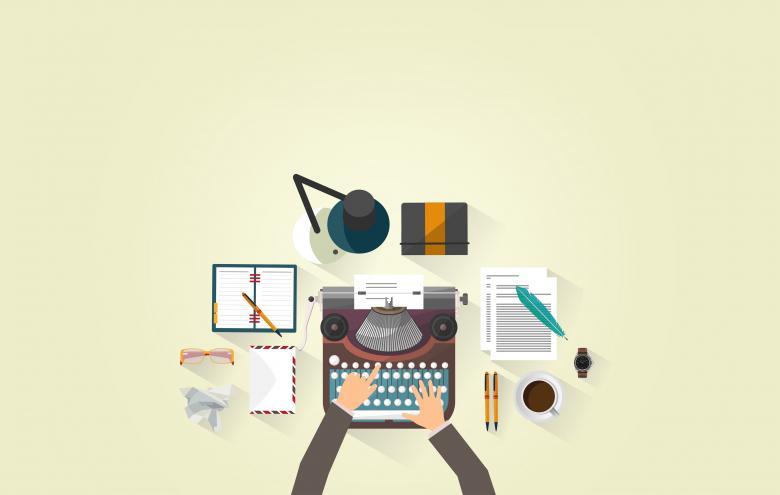 Free Stock Photo of Writer Typing - Typewriter - Work Desk - Author Created by Jack Moreh