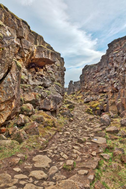 Free Stock Photo of Rugged Rift Valley Trail - Thingvellir Created by Nicolas Raymond