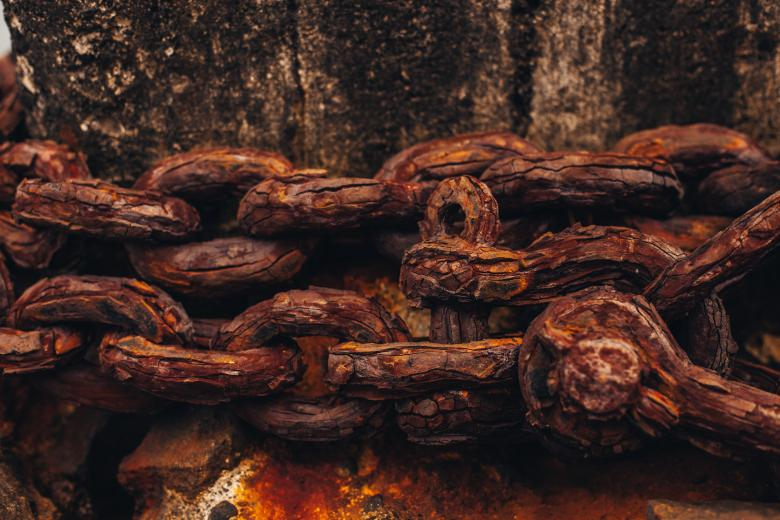 Corroded Chain Texture - Free Grunge Backgrounds
