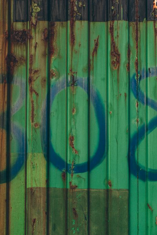 Free Stock Photo of Green Rusted Container Texture Created by Free Texture Friday