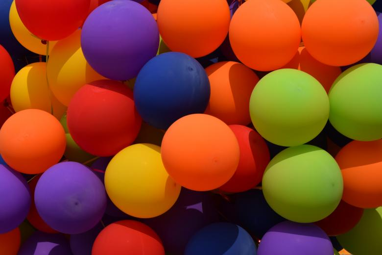 Free Stock Photo of Colorful Balloons Created by Rachmad Imam Tarecha