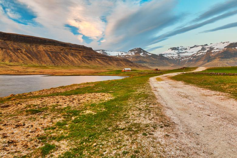 Free Stock Photo of Weathered Rural Iceland Road Created by Nicolas Raymond