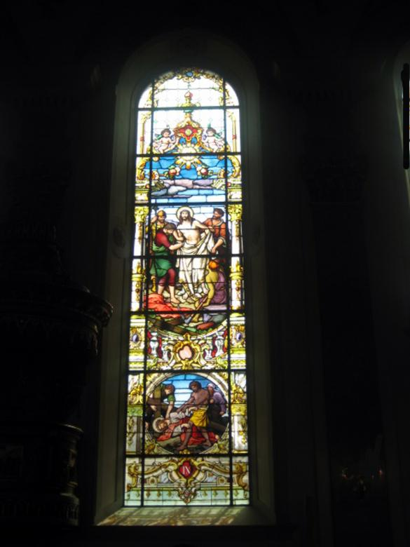 Free Stock Photo of Stained Glass in Church Window Created by VIJOY M ALEXANDER