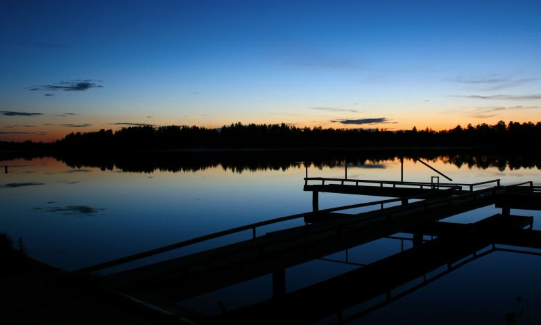 Free Stock Photo of Lake Night Scene Created by 2happy