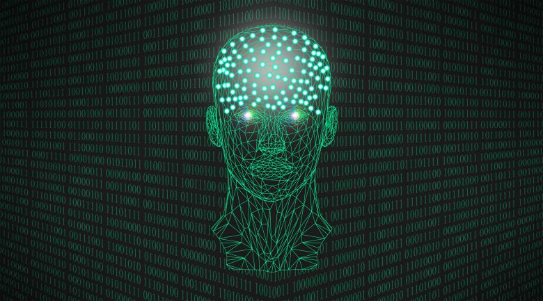 Artificial Intelligence Concept With Binary Numbers - Free Technology Stock Photos