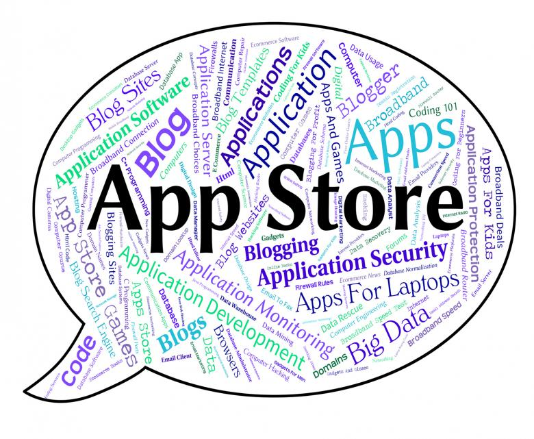 Free Stock Photo of App Store Represents Retail Sales And Application Created by Stuart Miles