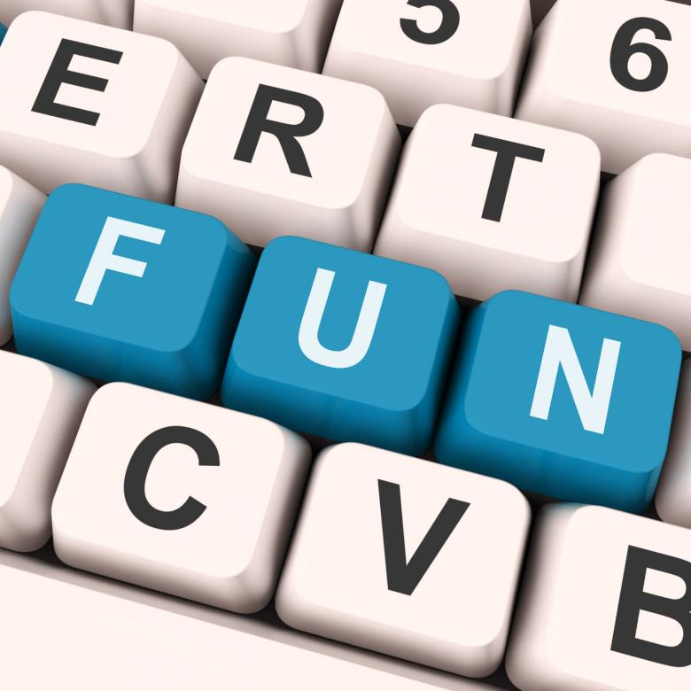 Free Stock Photo of Fun Keys Show Enjoyable Exciting Or Pleasing Created by Stuart Miles