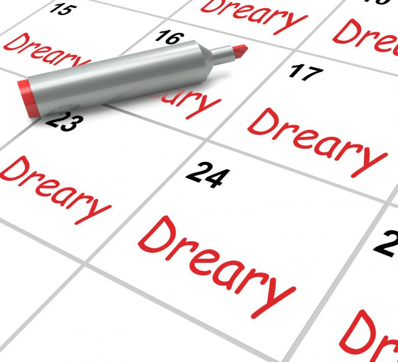 Free Stock Photo of Dreary Calendar Means Monotonous Dull And Uneventful Created by Stuart Miles