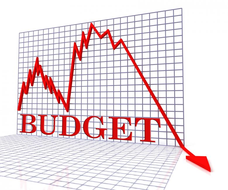 Free Stock Photo of Budget Graph Negative Shows Budgeting Decline 3d Rendering Created by Stuart Miles
