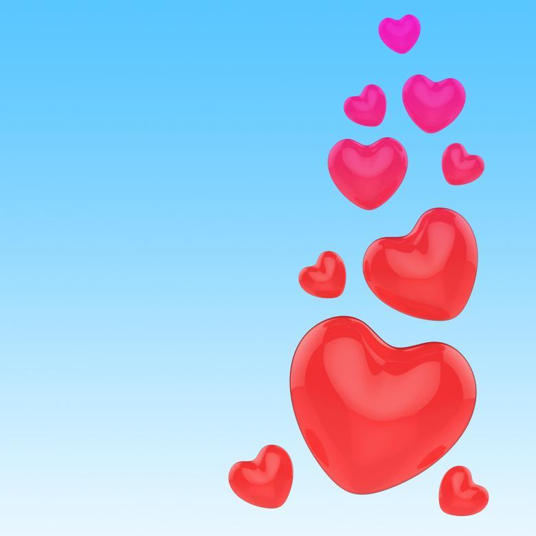 Hearts On Sky - Free Love Stock Photos