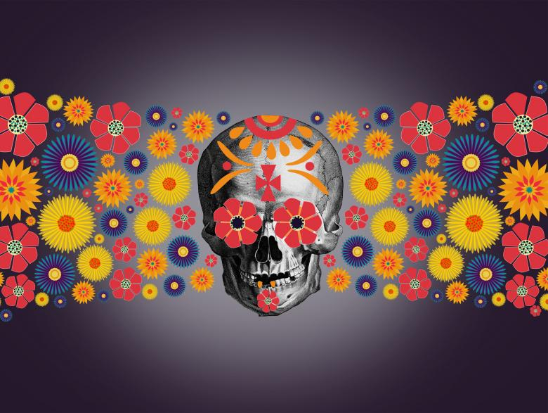 Free Stock Photo of  Dia de los Muertos - Day of the Dead - Illustration Created by Jack Moreh