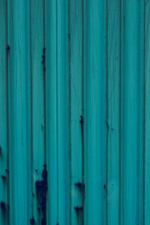 Blue Corrugated Metal Surface Free Photo