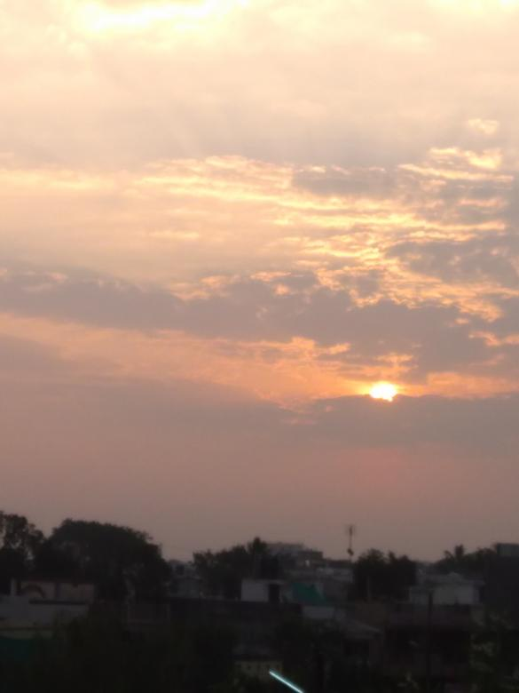 Free Stock Photo of Sunrise in Indore Created by Arjun Chourasia